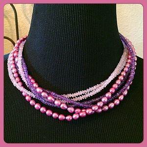Independent Artisans Jewelry - 💕Gorgeous Semi-Precious Mixed Media Necklace💕