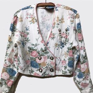 • VTG 80's Floral Bouquet Bolero Jacket •