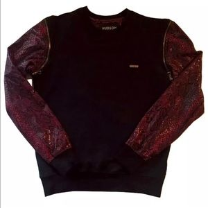 H By Hudson Other - Men's Hudson Zip-off Snakeskin Sweater Size S