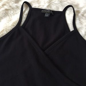 Forever 21 Tops - Cropped Surplice Cami