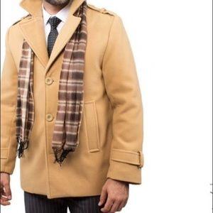 Braveman Other - Men's Pea Coat w/ Matching Plaid Scarf