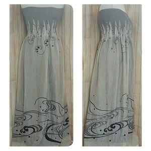 Lapis Dresses & Skirts - Lapis maxi dress boho Strapless  ONE SIZE fits all