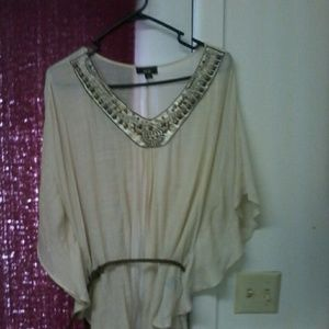 AGB Tops - agb ivory xl summer blouse