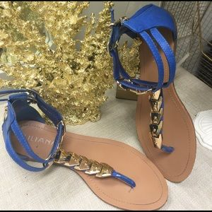 Royal Blue With Gold Sandals | Poshmark