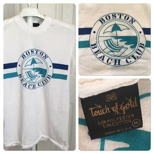 Vtg Boston Beach Club Tourist Tee