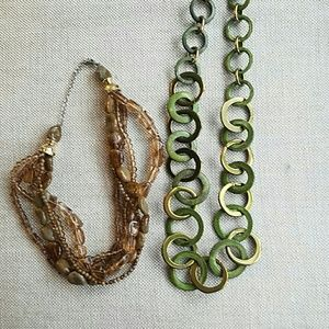 Jewelry - Set of 2 necklaces perfect for Fall Brown & olive