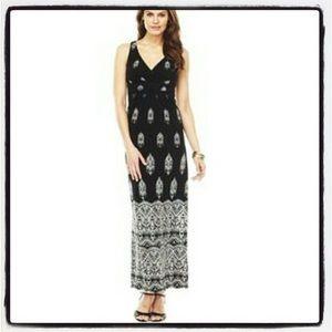 Chaps Dresses & Skirts - Chaps Black & White Maxi Dress Small