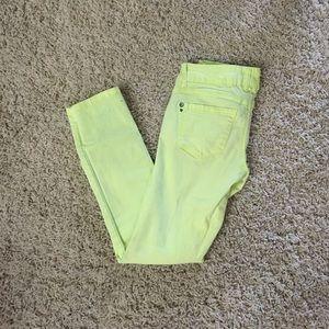Jolt Denim - Bright yellow skinny jeans