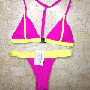 BellaVictoriaBoutique Other - Nubia - Color Block Brazilian Bikini Set