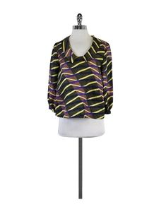 Suno Tops - Suno- Multi-Color Print Silk Blouse Sz S