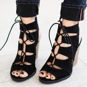 Bchic Shoes - 🌸Lace Up Open Toe Bootie Sandals
