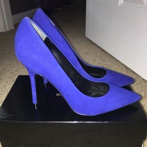 Boutique 9 Blue Suede Pumps