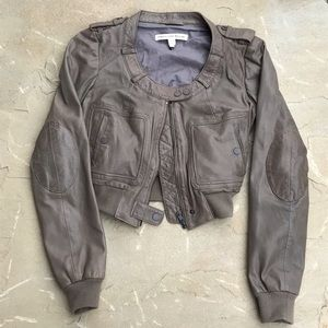 Twenty8Twelve Jackets & Blazers - Lambskin Bomber Cropped Jacket