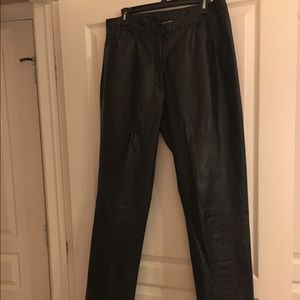 Chadwick's all leather black pants