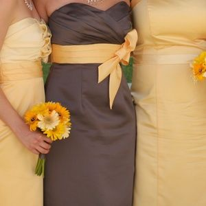 Alfred Angelo Dresses & Skirts - Prom / bridesmaid dress Gray & yellow