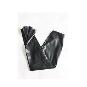 Zara Faux Leather High Waist Legging