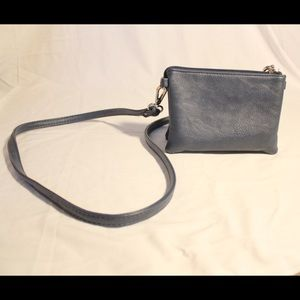 Charming Charlie's navy mini crossbody purse
