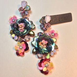 J. Crew Jewelry - J. Crew Blooming Sequin Paillette Earrings
