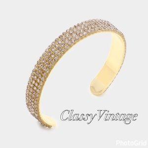 boutique Jewelry - Sophisticated black diamond bangle