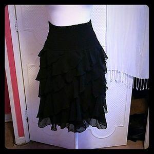 Black Dress Barn Ruffled Skirt