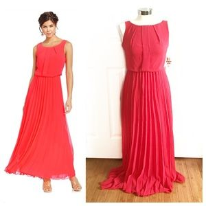 B Darlin Dresses & Skirts - NWT B Darlin Pleated Coral Long Dress