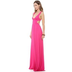 Rachel Pally Dresses & Skirts - Rachel Pally Hot Pink Cutout Maxi Dress