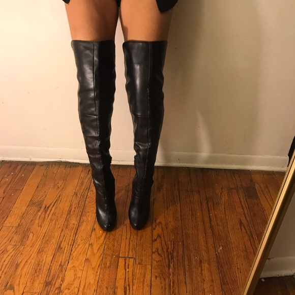 cf42a7f2d80 Forever 21 Shoes - Faux Leather thigh high boots