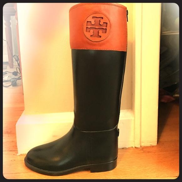 d381d5786290 Tory Burch Winnie Rain Riding Boots. M 58b6f51a56b2d6977000732c