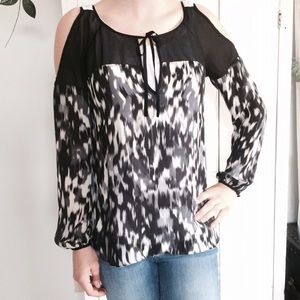 Anthropologie Tops - Anthro cold shoulder blouse