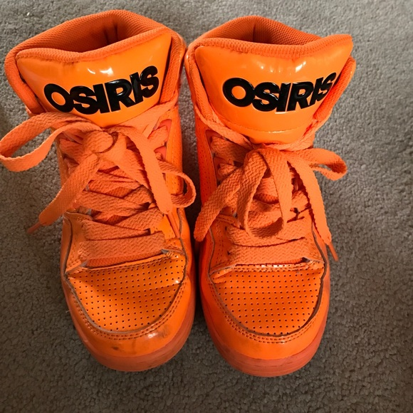 Osiris Shoes - Boys Osiris bright orange high tops