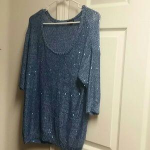 Torrid blue sequin sweater