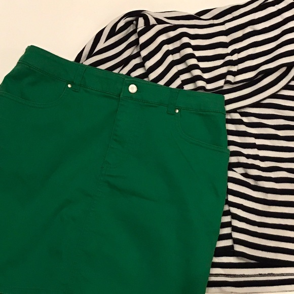 1cfc49302 H&M Dresses & Skirts - H&M green denim skirt
