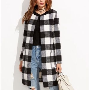 Checkered coat New with tags!