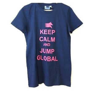 Longines Tops - Keep Calm and Jump Global T-Shirt