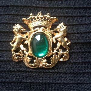 Ben-Amun Jewelry - Vintage Ben Amun Gold Lions Brooch