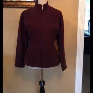 Jean Paul Gaultier Jackets & Blazers - Jean Paul Gaultier burgundy suit jacket