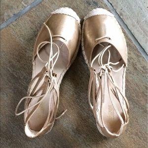 🍃💕NIB Catherine Malandrino Leather Espadrilles