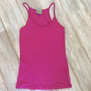 C&C California Tops - C&C California Basic Tank-Pink