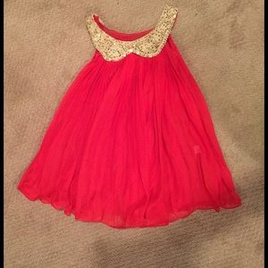 boutique  Other - Boutique amazing red /gold sheer dress