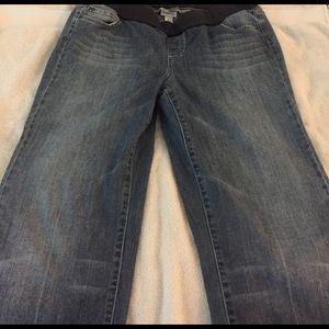 Denim - Maternity cropped wide leg jeans-L