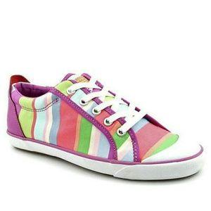 Coach Shoes - 🎊HP🎊Bright, colorful & fun coach striped shoes