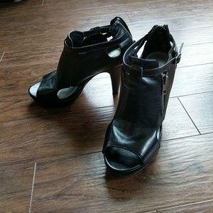 Madden Girl Shoes - Black Madden Girl Cutout Peep-Toe Heels