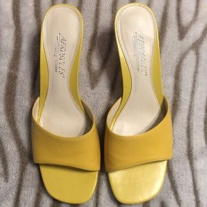 AEROSOLES Shoes - Aerosoles yellow wedge / sandal