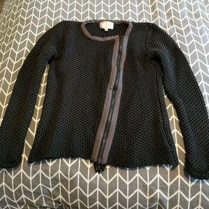 Skies Are Blue Sweaters - Black Asymmetrical Zip Sweater NWOT