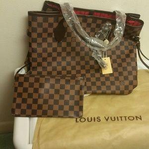 Louis Vuitton Handbags - Medium lv neverfull bag &Matching Pouch