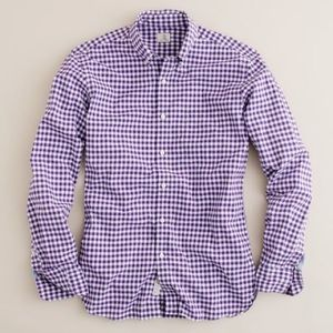 J. Crew Tops - J. Crew Factory Perfect Shirt In Purple And White
