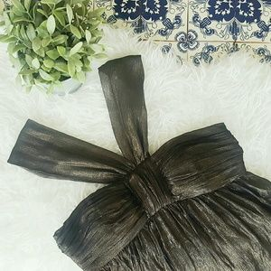 Muse Dresses & Skirts - 🌷MUSE black with gold shimmer dress🌷