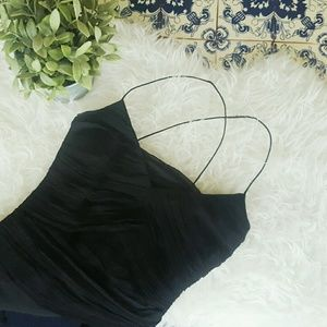 LE CHATEAU black dress with tail