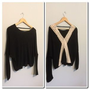 She and Sky Sweaters - FIRM🎀 SALE🎀Light weight Sweater with Back detail