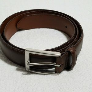 Chaps Other - Chaps Brown Genuine Leather Belt Silver Buckle